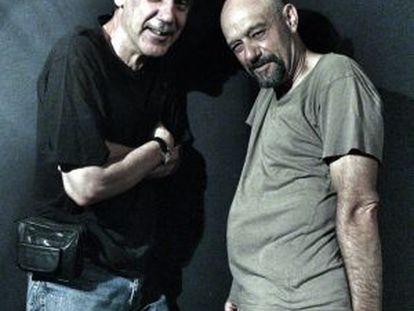 Faemino y Cansado posan en la sala Galileo Galilei, donde llevan 30 años actuando.