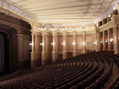 Interior del teatro Festspielhaus, donde se celebra el Festival Richard Wagner de Bayreuth (Alemania).