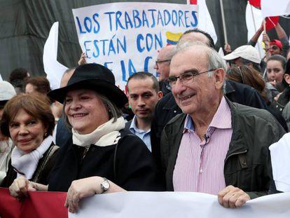 El exnegociador de paz Humberto de la Calle durante la campaña presidencial del 2018.