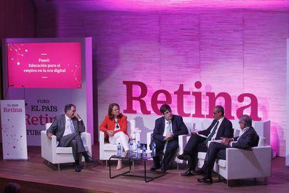 De izquierda a derecha: Félix Serrano, Montserrat Gomendio, Ricardo de Querol, Rafael van Grieken y José Antonio Herce.