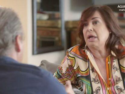 Carmen Martínez-Bordiú, durante la entrevista.
