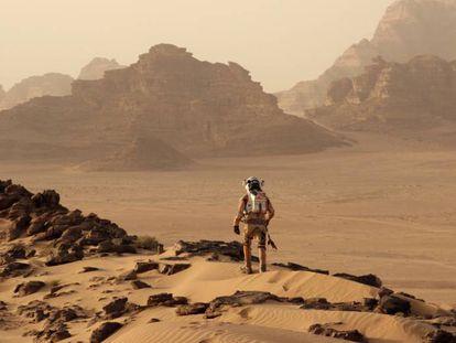 Fotograma de la película Marte de Ridley Scott.