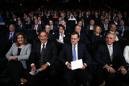 El presidente Mariano Rajoy clausura la asamblea de CEOE.