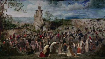 Fotograma de la película de Lech Majewsky, 'El molino y la cruz', donde recrea 'El camino del calvario' de Brueghel y que se estrena este viernes.