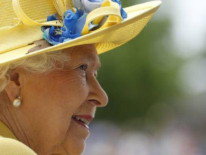 La reina Isabel II a su llegada a Ascot.