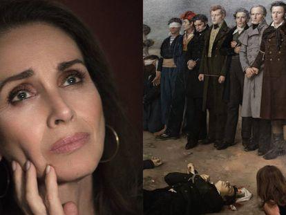 Ana Belén y la sobrecarga de emoción ante el fusilamiento de Torrijos