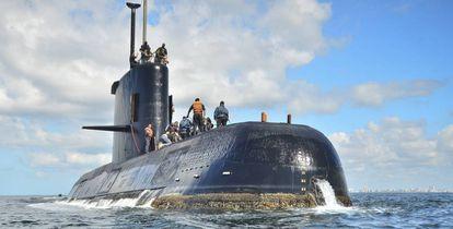 El submarino argentino ARA San Juan.