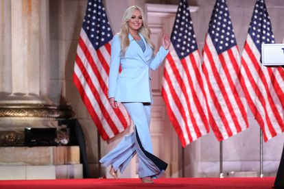 Tiffany Trump, durante la Convención Republicana, celebrada este martes, en Washington.