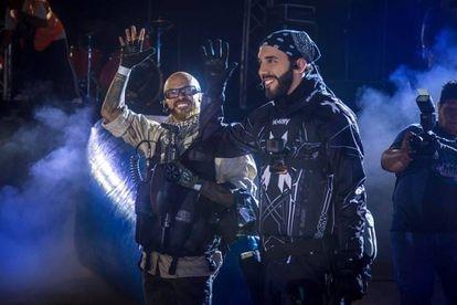 Nayib Bukele con Salvador Alas 'La Choly'.