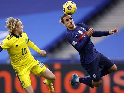 Griezmann se impone al sueco Forsberg.