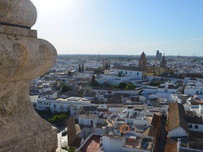Vista de Utrera (Sevilla), desde el castillo.