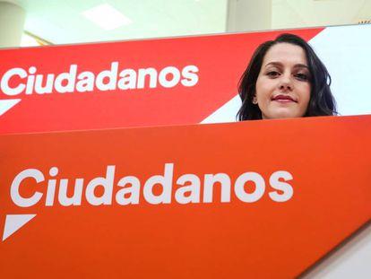 Inés Arrimadas, portavoz parlamentaria de Cs.