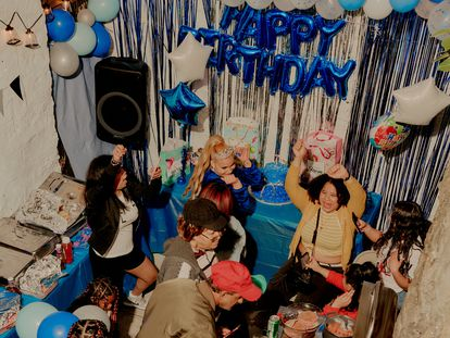 Una fiesta de quinceañeras en el Bronx, en Nueva York, el 8 de mayo de 2021.