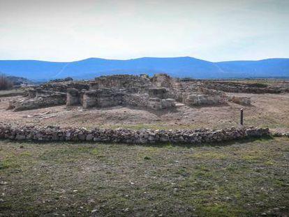 Vista del yacimiento del complejo palaciego de Los Hitos, en Orgaz.