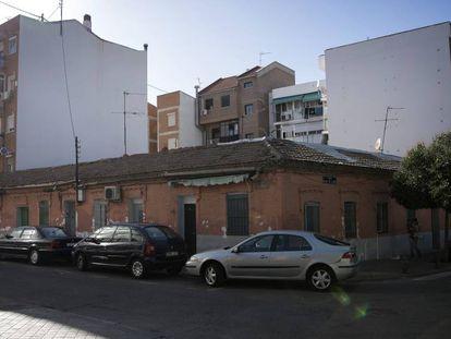 Casas de la calle Peironcely 10, en Vallecas, Madrid.