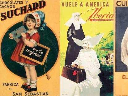 Tres de los carteles de la colección de Carlos Velasco.