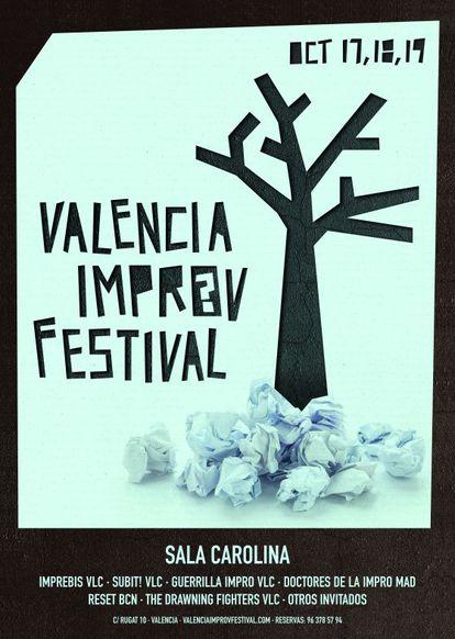 Cartel del Festival Valencia Improv.