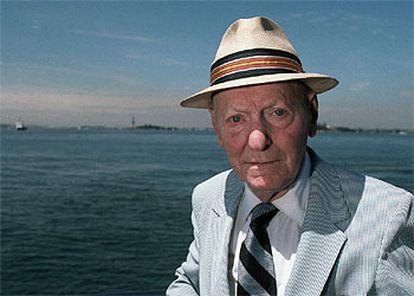 Isaac Bashevis Singer (1904-1991), en Manhattan en 1986.