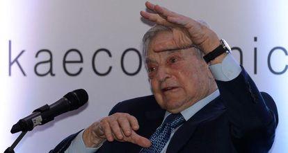 El inversor estadounidense George Soros, durante su intervención en un foro económico en Colombo (Sri Lanka)