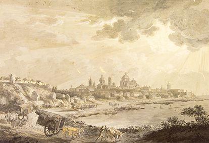 La ciudad de Buenos Aires era la capital del virreinato del Río de la Plata, en abierta competencia con Montevideo (Museo Naval / Museo de América).