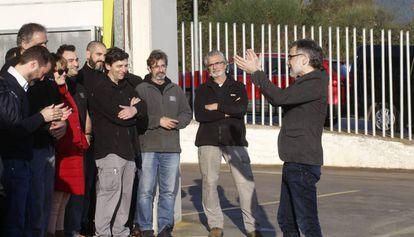 Jordi Cuixart, a la llegada a su empresa en Sentmenat (Barcelona).