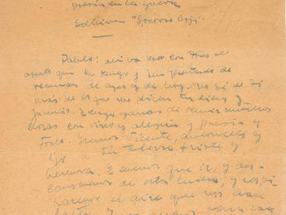 La carta de Miguel Hernández a Neruda.