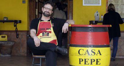 Juan José Navarro, uno de los dueños de Casa Pepe.
