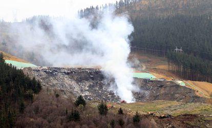 Incendio en el vertedero de Zaldibar.