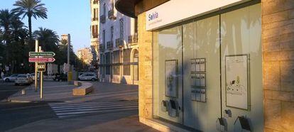 Primera agencia inmobiliaria de Solvia, en la avenida de Juan Bautista Lafora, Alicante.