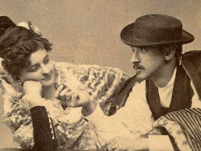 Emilia Pardo Bazán y su marido, José Quiroga Pérez de Deza.