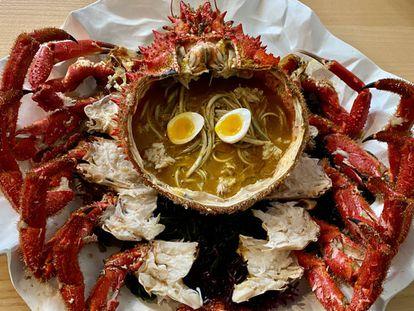 Recreación del ramen en el restaurante Estimar. J. C. CAPEL