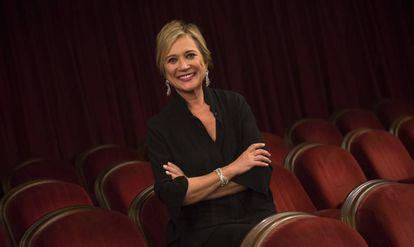 La periodista Inés Ballester, ayer, en el Teatro Principal.