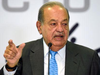 El empresario mexicano Carlos Slim en una fotografía de octubre de 2019.