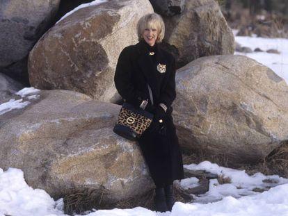 La princesa Marie-Christine de Bélgica en el lago Tahoe (Nevada, EE UU), en diciembre de 1994.