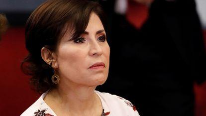 Rosario Robles, durante un acto protocolario en Ciudad de México en 2014.