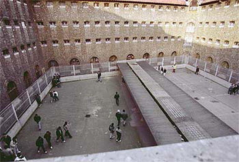Patio de la prisión de La Santé, en París, de la que consiguió escapar en agosto pasado Ismael Berasategi.