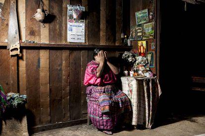 María, 74 años, tuvo que huir de su casa para evitar la limpieza étinica durante el conflicto guatemalteco.