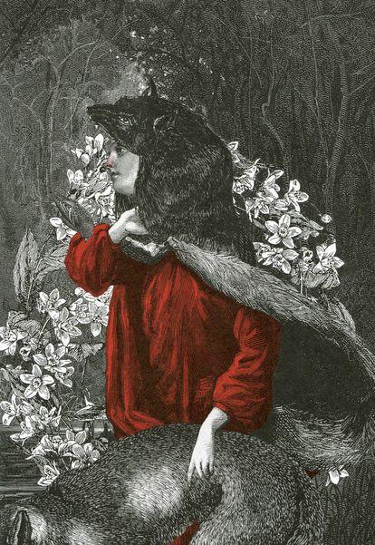 Ilustración para 'La cámara sangrienta', de Angela Carter, colección en la que reescribía 10 cuentos de hadas de Charles Perrault.