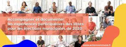 La asociación 'Action Commune' acompaña y documenta las experiencias participativas de las listas para las elecciones municipales de 2020