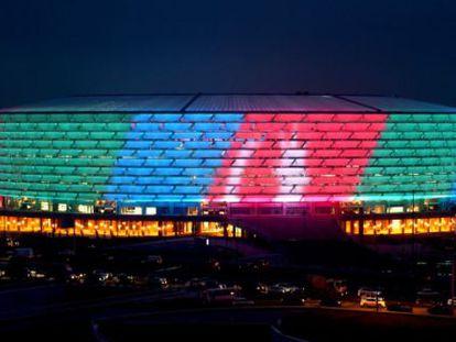 El nuevo estadio olímpico, sede de Baku 2015.
