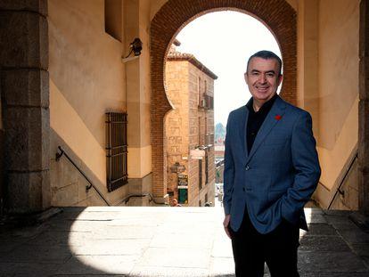 El escritor Lorenzo Silva, en Toledo, este jueves.