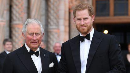 Los príncipes Carlos y Enrique, en un evento en Londres en abril de 2019.
