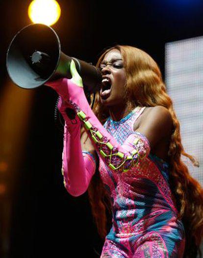 La rapera Azealia Banks, durante una actuación el pasado agosto.