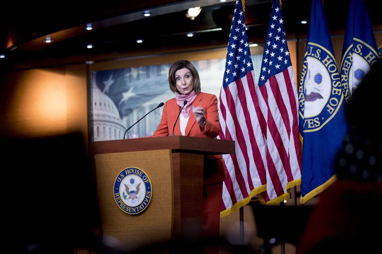 La líder demócrata de la Cámara de Representantes, Nancy Pelosi.