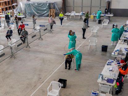Cribado masivo llevado a cabo el 14 de diciembre en Muro, un municipio de las Islas Baleares.
