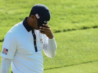 Tiger, tras fallar un golpe.