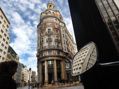 Sede histórica del antiguo Banco de Valencia, ahora propiedad de Caixabank.