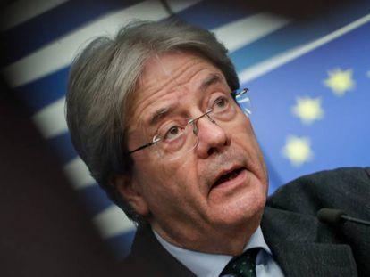 El comisario europeo de Economía, Paolo Gentiloni.