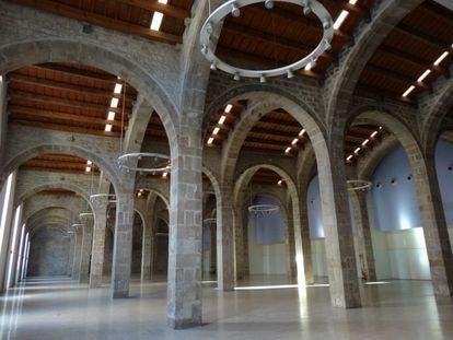 La Sala Grande, antigua Comillas, del Museo Marítimo de Barcelona que acogerá las exposiciones de arte como la de Escher.