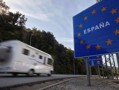 La frontera entre España y Francia, en Le Perthus, en junio de 2020.